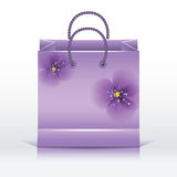 Violet paper shopping bag Royalty Free Stock Photography