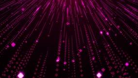 Violet Particles Glitter Glamour Rain stock illustratie