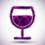 Violet peace geometric icon made in 3d modern style, best for us. E as symbol or design element Royalty Free Stock Photo