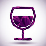 Violet peace geometric icon made in 3d modern style, best for us Stock Images