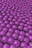Violet pearls in perspective. Ludic and infant image of scientific inspiration to teach a complete group Stock Photos