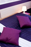 Violet pillows Stock Images