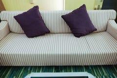 Violet pillows Stock Photo