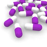 Violet pills Stock Image