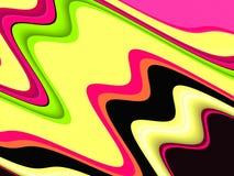 Pink blue green black vivid fluid shapes, geometries background on black background royalty free illustration