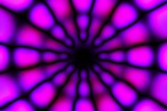 Multicolored radial circle light pattern. Violet, pink and black radial circle pattern stock images