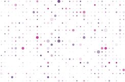 Violet, pink dotted background with circles, dots, point different size, scale. Halftone pattern. Vector illustration. Violet, pink dotted background with Royalty Free Stock Photography