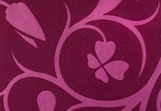 Violet with pink flowers fantasy pattern wallpaper background Royalty Free Stock Images