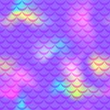Violet pink yellow mermaid scale  background. Neon iridescent background. Fish scale pattern. Seamless pattern swatch. Holographic gradient. Mermaid tail scale Stock Photography