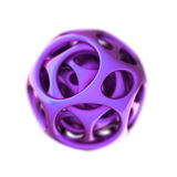 Violet plastic spherical designer Royalty Free Stock Image