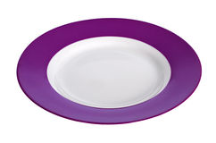 Violet plate Royalty Free Stock Image