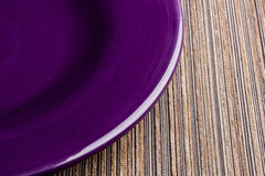 Violet plate Royalty Free Stock Photography