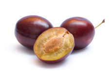 Violet plums Royalty Free Stock Photography