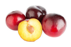 Violet plums Stock Image