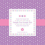 Violet polka dot greeting card Royalty Free Stock Photography