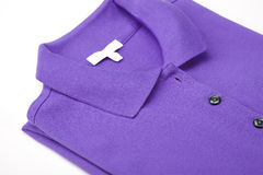 Violet polo shirt Stock Photography