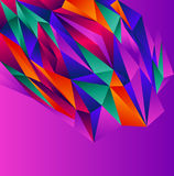 Violet polygonal design Stock Photos