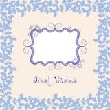Violet Postcard. Stock Photos