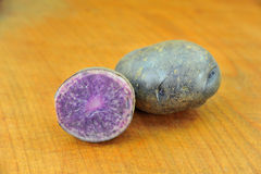 Violet potato Stock Images