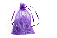 Violet pouch Stock Photography