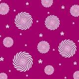 Violet purple background white circles texture repetition. Flowers composition decoration cute stock illustration