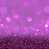 Violet or purple bokeh light is the soft blurred circles of ligh Royalty Free Stock Photography