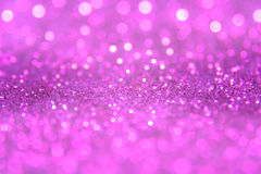Violet or purple bokeh light is the soft blurred circles of ligh Royalty Free Stock Photo