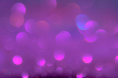 Violet or purple bokeh light is the soft blurred circles of ligh Stock Image
