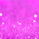 Violet or purple bokeh light is the soft blurred circles of ligh Stock Photos