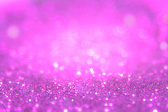 Violet or purple bokeh light is the soft blurred circles Stock Photo