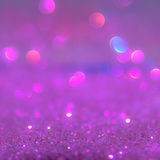 Violet or purple bokeh light is the soft blurred circles  Stock Photos