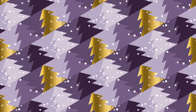 Violet purple color background with Christmas tree Stock Photo