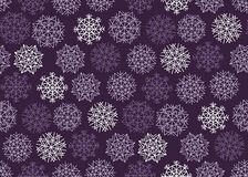 Violet purple color background snow fabric sample. Christmas sno Stock Image