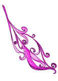 Violet purple feather abstract ornament Stock Images