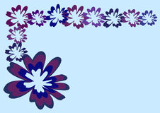 Violet purple floral abstract  frame background Royalty Free Stock Image