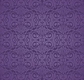Violet purple Floral  vintage seamless pattern background Stock Photos