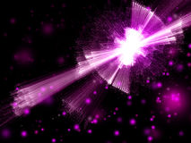 Violet purple light flash abstract background Stock Photography