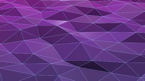 Violet or purple low poly waving surface stock video