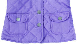 Violet purple quilted jacket with pockets Stock Photo