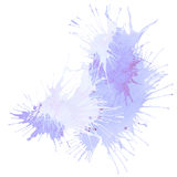 Violet and purple vector splash stain Royalty Free Stock Photo