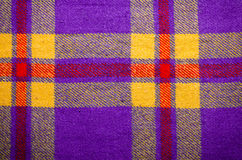 Violet, purple vintage blanket tartan plaid wth copy space, texture background Stock Photography