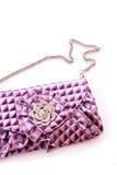 Violet purse Royalty Free Stock Photos