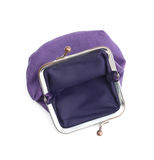 Violet purse is lack of money Royalty Free Stock Photo
