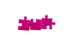 Violet puzzles Royalty Free Stock Images