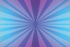 Violet rays pop art background. Pop art retro vector illustration Royalty Free Stock Photos