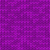 Violet realistic simple knit texture seamless pattern. Seamless knitted pattern. Woolen cloth. Illustration for print. Violet realistic simple knit texture Royalty Free Stock Photos