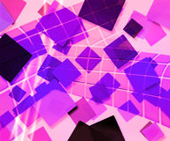 Violet Rectangles Abstract Background Stock Image