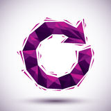 Violet reload geometric icon made in 3d modern style, best for u Royalty Free Stock Photos