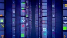 Violet Retro Cinema Tape creativa stock de ilustración