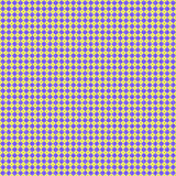 Violet rhombuses on yellow background, repeated pattern Royalty Free Stock Photo